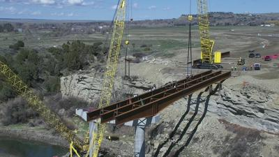 Bridge Girders Placed on Billings Bypass Yellowstone River Bridge; Webcam Offers the Public Live View
