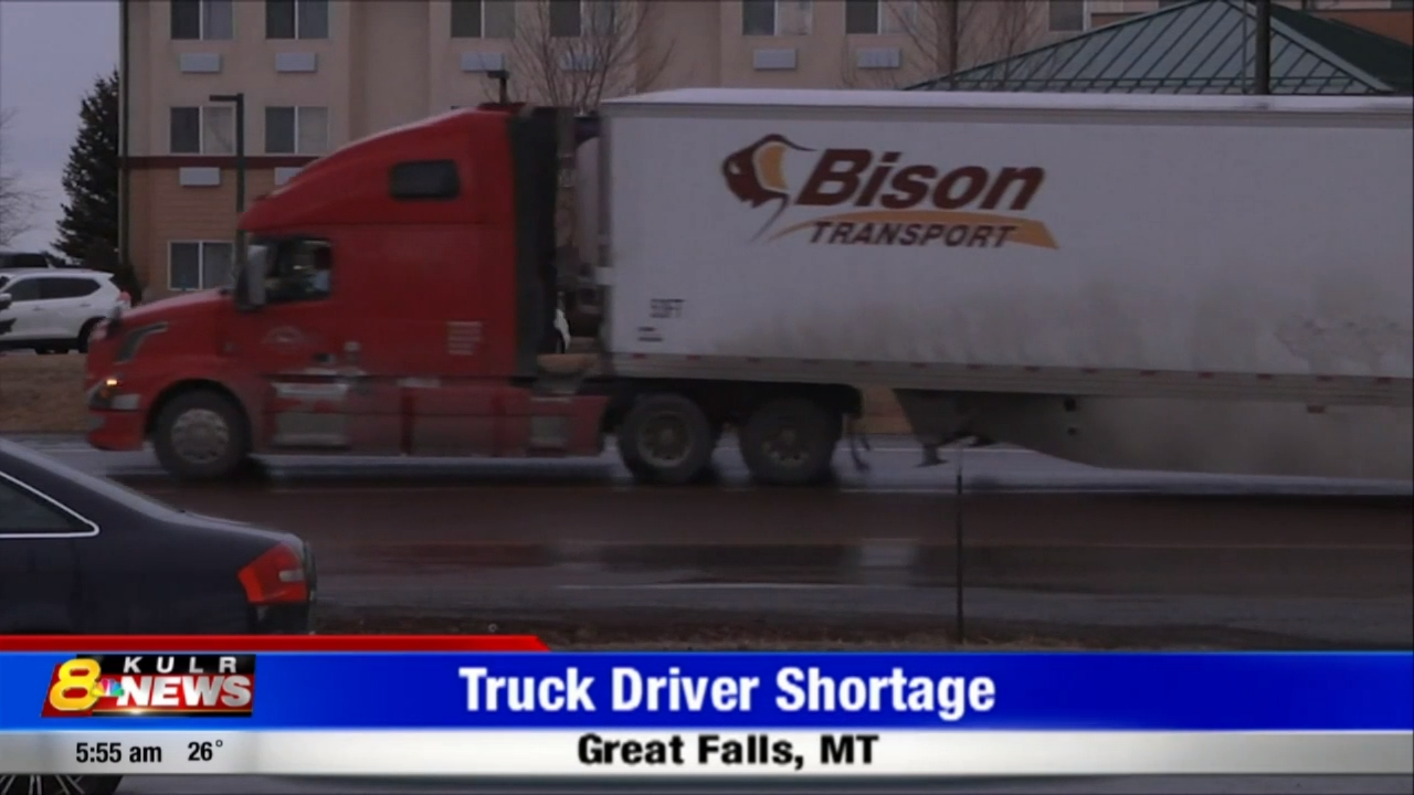 Great Falls feeling the effects of a nation wide trucking shortage | News | kulr8.com