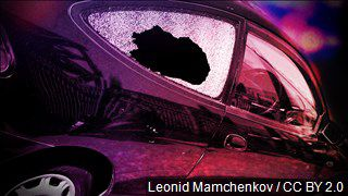 Laurel police department looking for suspects in smashed car window incident