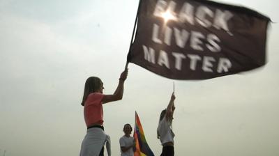 Pence protesters Black Lives Matter