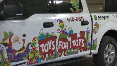 Toys for Tots set up storage at MetraPark
