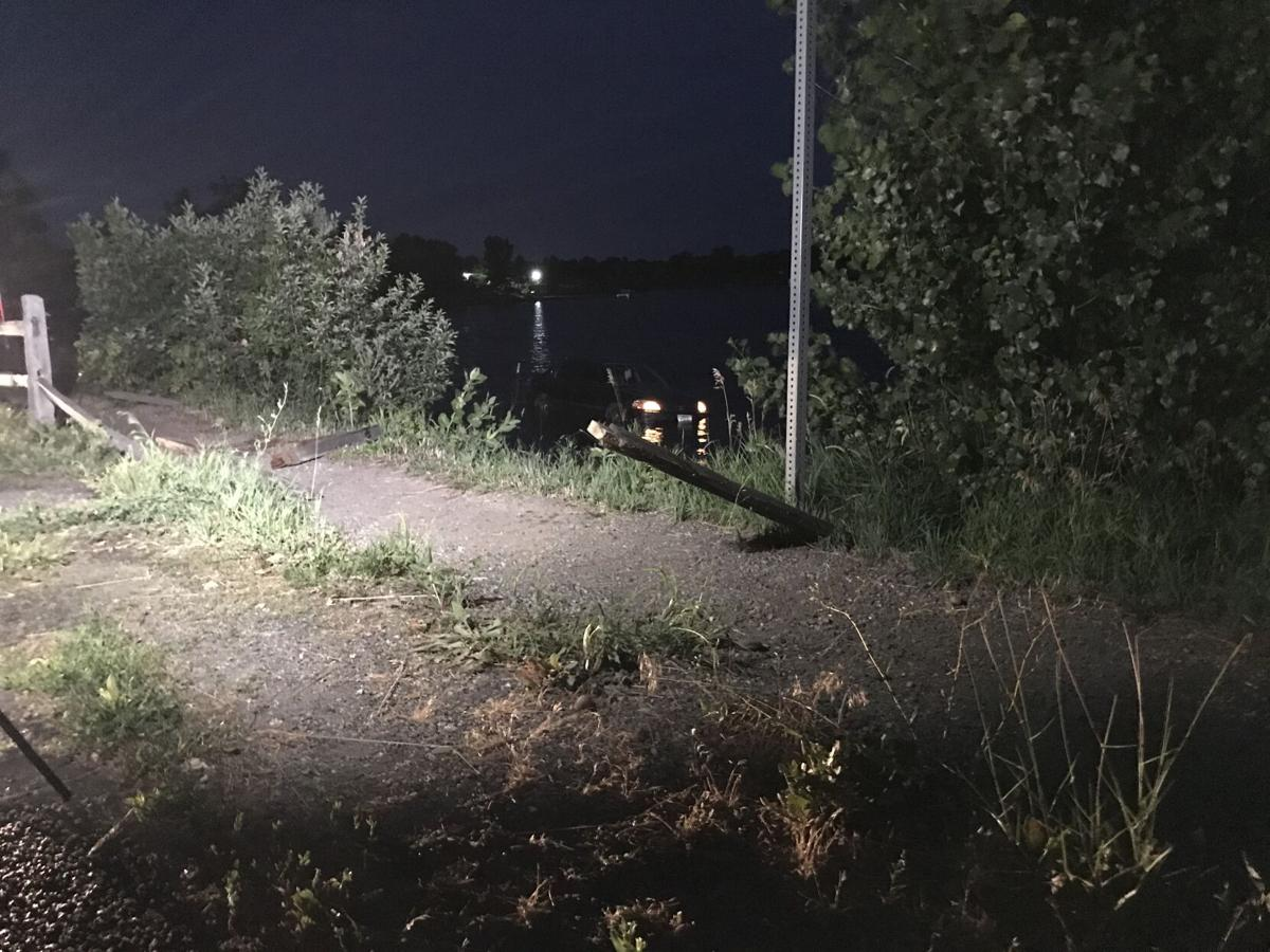 Car submerged in Billings' Lake Elmo following crash