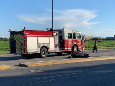 Single motorcycle crash sends man to hospital, witnesses say motorcycle's speed was a factor in crash