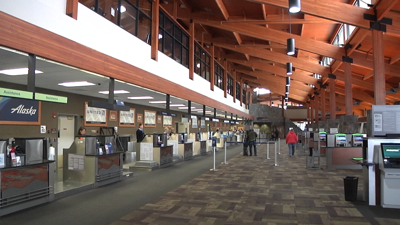 Bozeman Yellowstone International Airport terminal interior