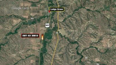 Grass fire reported south of Lodge Grass
