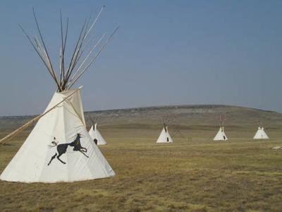 Teepees at First People's Buffalo Jump