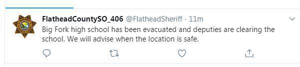 evacuated tweet