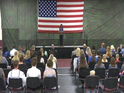 Second Lady Karen Pence gives address on issues regarding military spouse unemployment