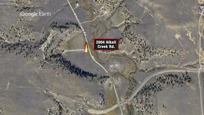 Wildfire reported on Alkali Creek Road