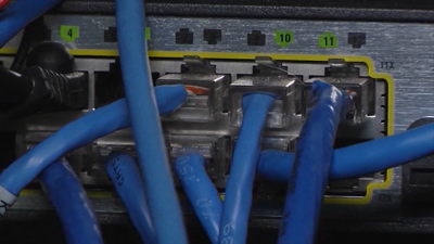 Internet connection wires