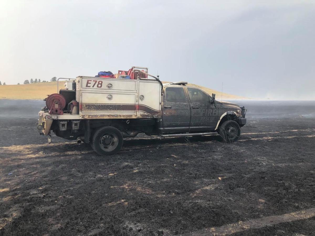 Joliet fire burns over fire engine