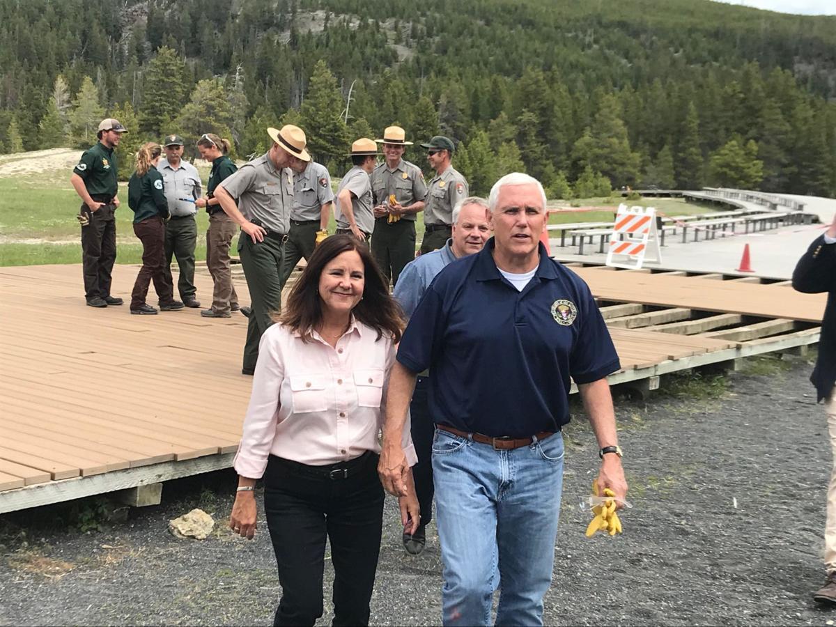 VPOTUS and Karen Pence visit YNP