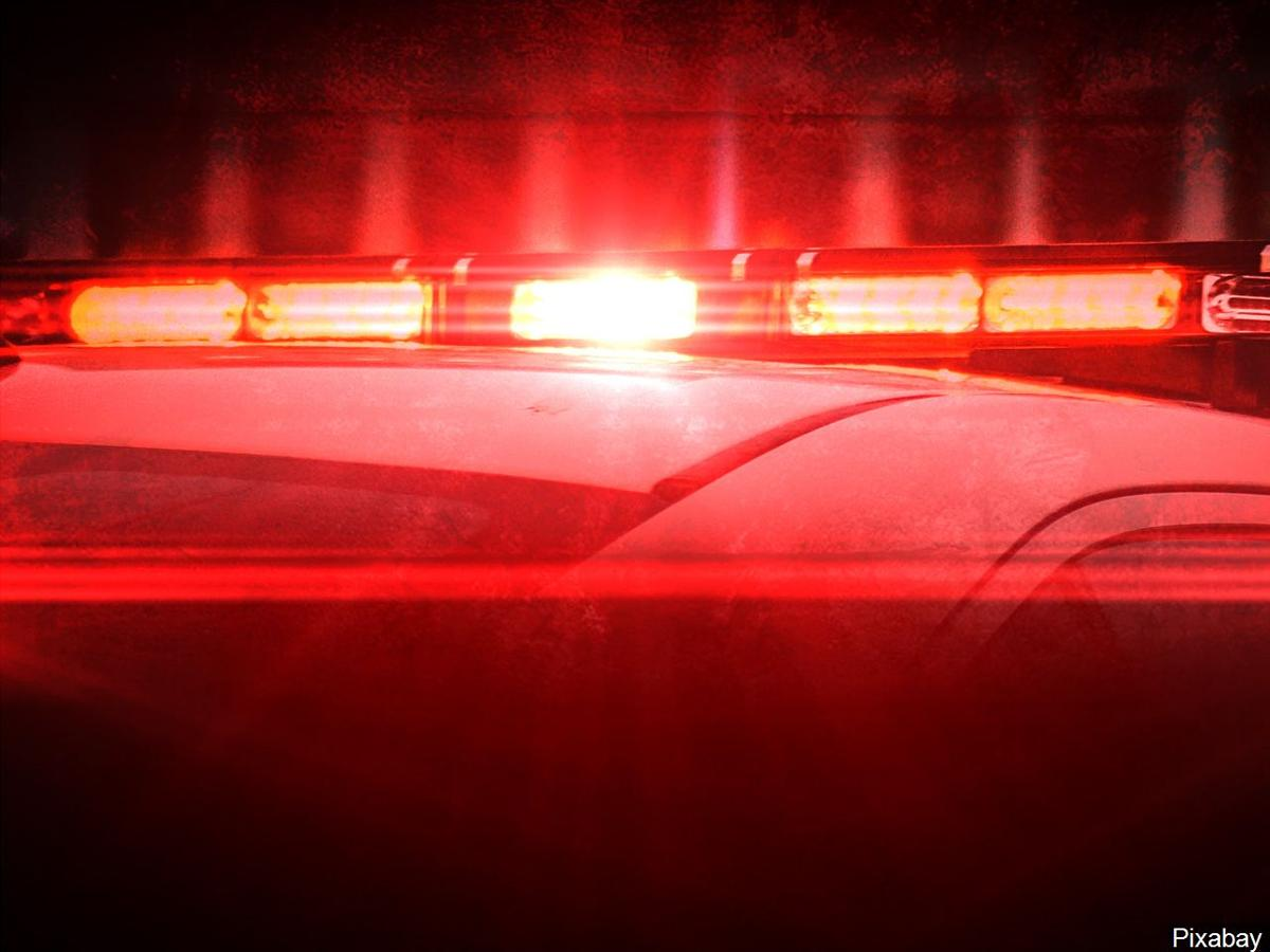 Police lights stock image