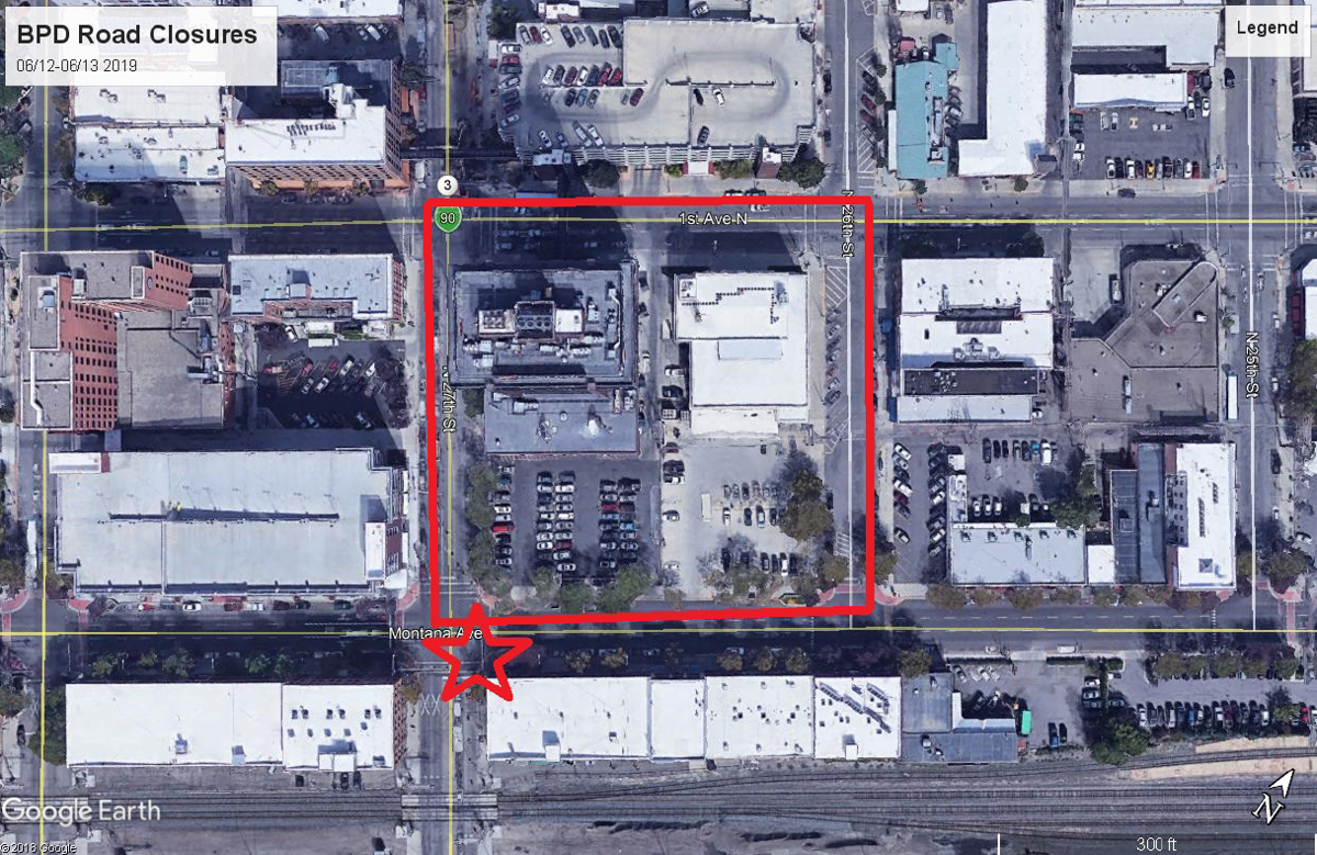 BPD Road Closures Map