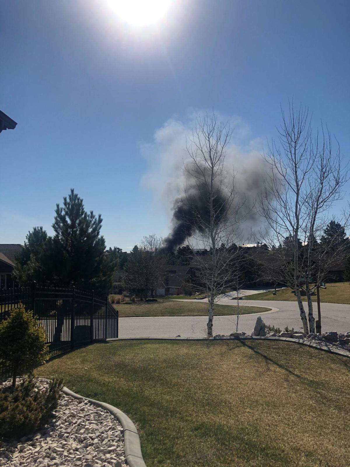 Black smoke seen near Billings Airport