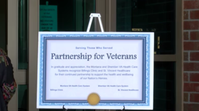 Montana and Sheridan VA announce a new healthcare partnership between Billings Clinic and St. Vincent Healthcare