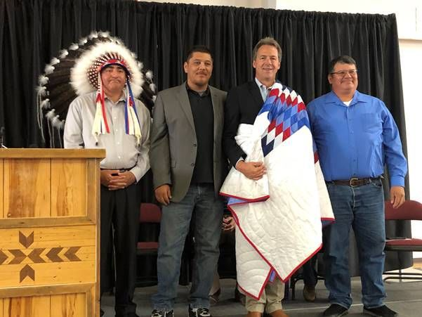 Bullock joined Fort Belknap Indian Community Tribal leaders to discuss healthcare and jobs