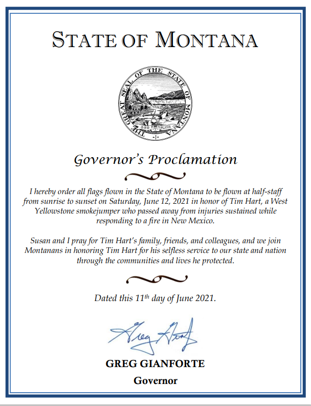 Governor Gianforte Orders Flags