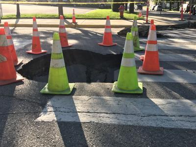 Hole in road closes roads in Bozeman