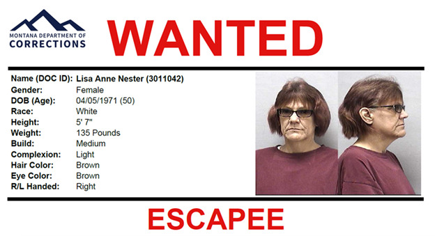 Escapee Lisa Nester Wanted