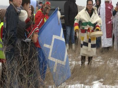 More than 90 Northern Cheyenne youth complete 400 mile relay run at Two Moons Gravesite