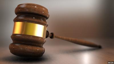 Court gavel stock image