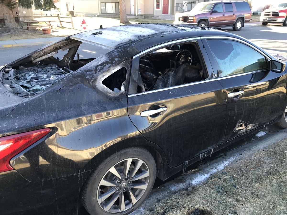 West End car broken into, set on fire