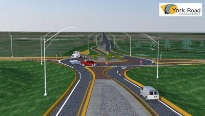 York roundabout set to open Thursday