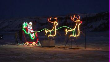 Santa Claus flies around Billings On Christmas Eve
