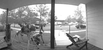 A Belgrade man had expensive tools taken off his front lawn and it was all caught on camera