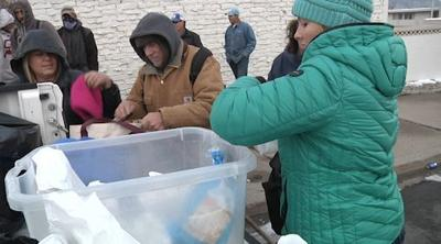 Butte's homeless receive a free hot meal on a cold winter day
