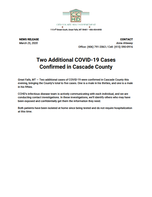 Cascade CCHD two additional cases