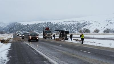 Logging truck tips over on I-90 | News | kulr8 com