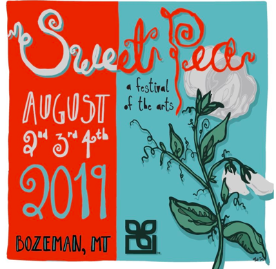 This years Sweet Pea poster is cementing a local artists name in an iconic local festival