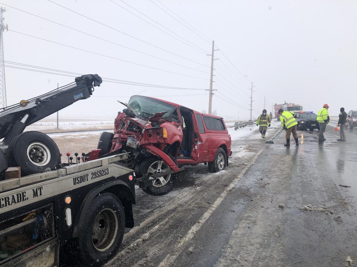 Car loses control causing head-on crash on I-90 near Belgrade