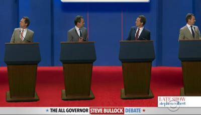 bullock debate colbert show