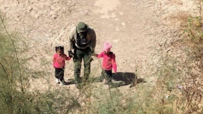 Border Patrol agents found two sisters, who are 4 and 6 years old -- alone in a marshy area along the Colorado River in Yuma