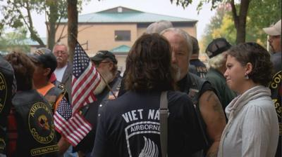 Vets rally in Guttenberg to save historic flag