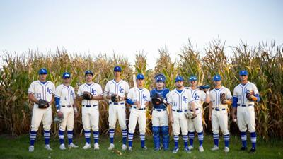 Luther College baseball team at the Field of Dreams movie site