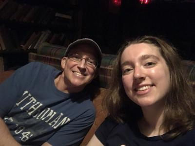 Emily Girard and her father