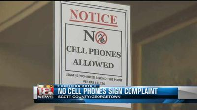 No phones allowed at Scott County polling place