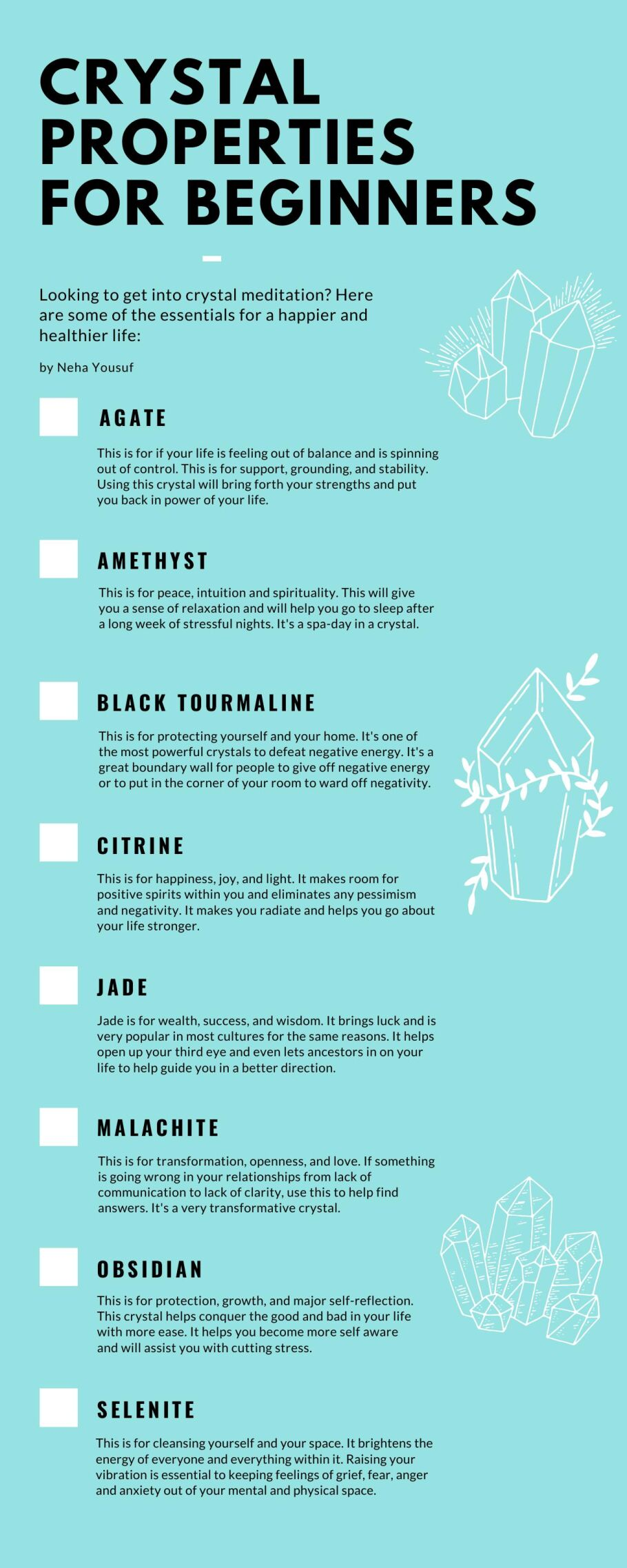 Crystal infographic
