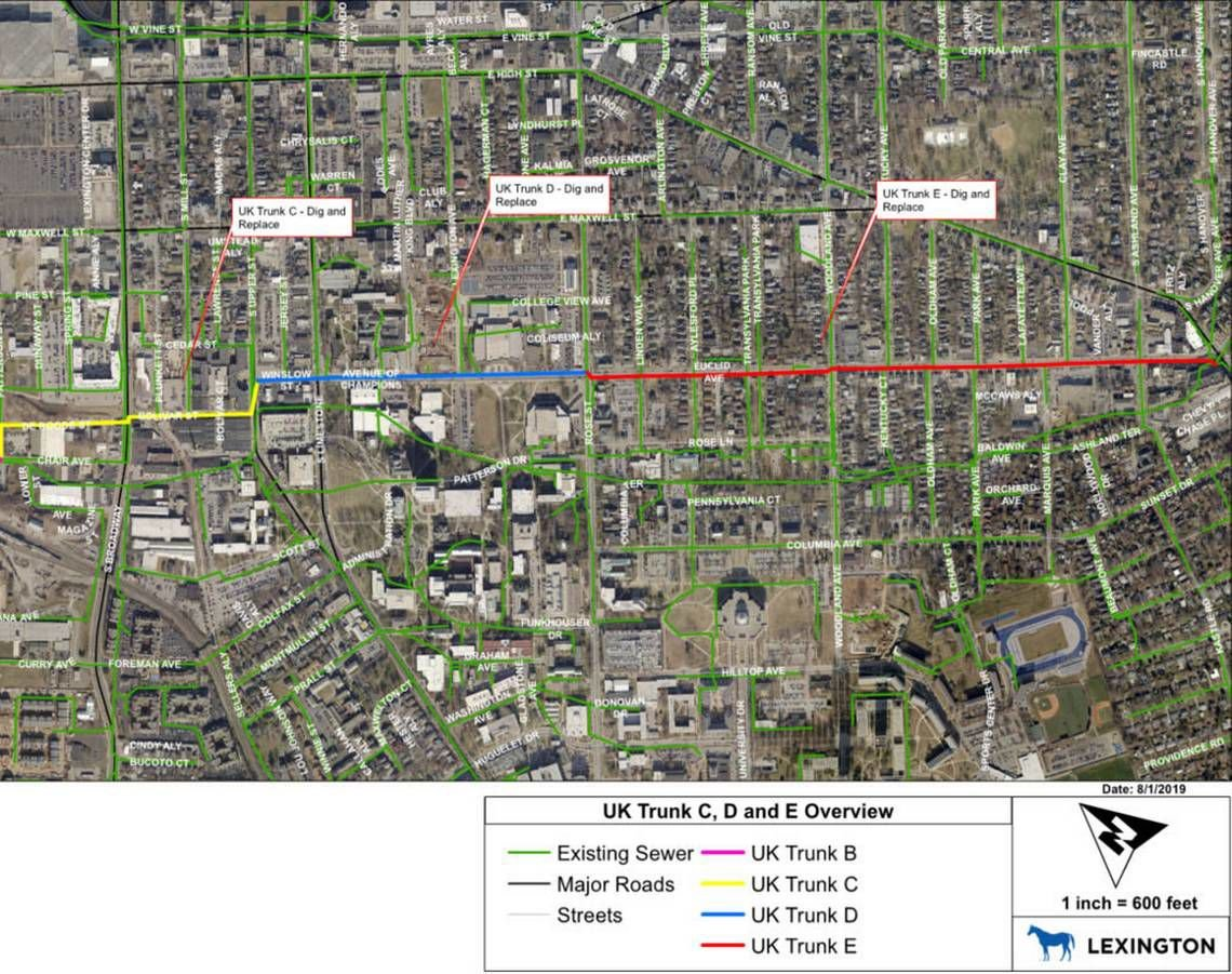 Major sewer update near UK campus to disrupt traffic for ...