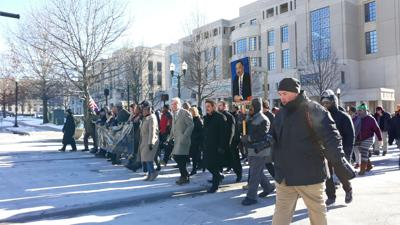 Thousands gather in downtown Lexington to march for MLK Day 2019