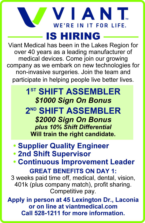1ST & 2nd Shift Assembler, etc. - Viant
