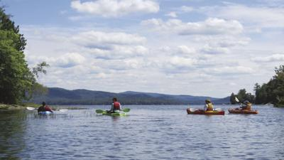 Kayakers on Newfound