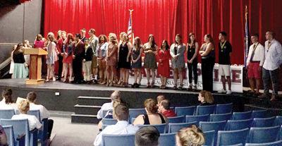 Laconia High School presents awards