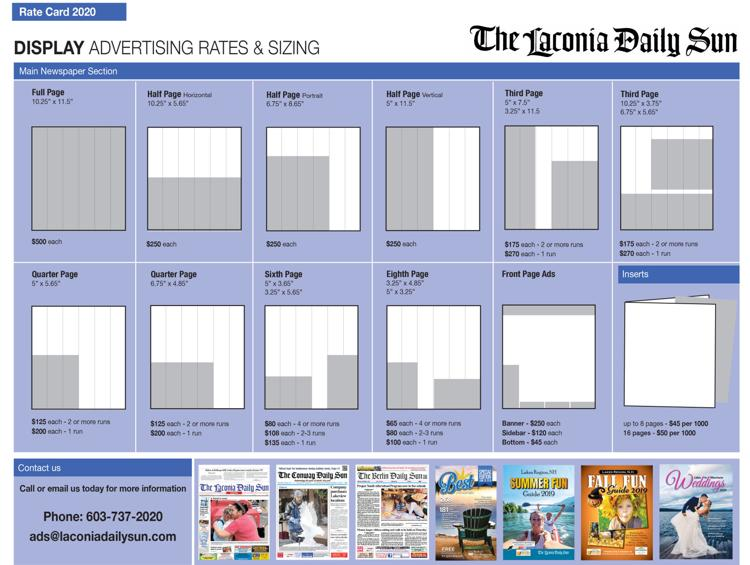 Advertising Rates and Sizes