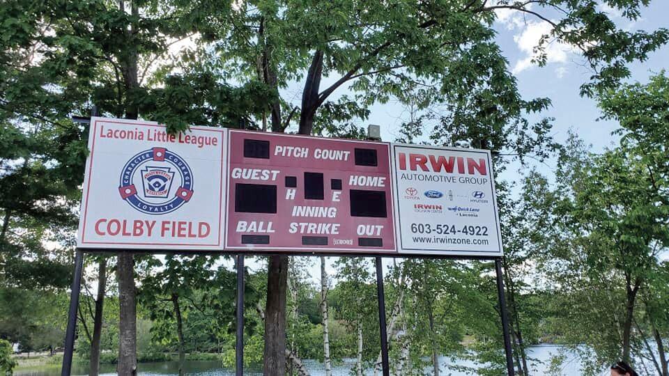 Colby Field scoreboard