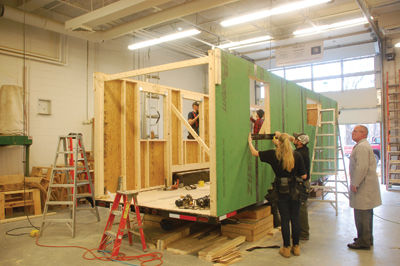 Tiny House - Huot Tech students take on challenge to build an entire home